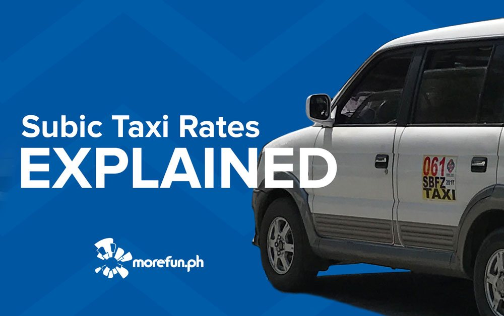 Subic Taxi Rates Explained